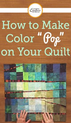 """Heather Thomas teaches you a few different ways to add the proper amount—or that """"pop""""—of color to your quilt. She shows three quilts with unique patterns and talks about using colors that complement each other and work together to draw attention to the accents of the piece."""