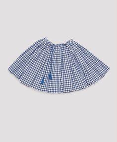 Malta Skirt, Bluebell Gingham, Caramel Baby & Child.