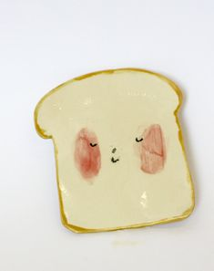 Cute ceramic plate. @Abbie Barnes Barnes Harris, this reminded me of you and your love of anthropomorphized food.