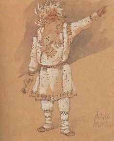 Ded Moroz.  Viktor Vasnetsov.  Ded Moroz was not always kindly-