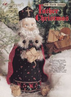 Father-Christmas-Plastic-Canvas-Pattern-TNS-954041-18th-Century-Old-World-Santa