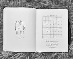 "722 Likes, 9 Comments - Benedicte (@mynorwegianbulletjournal) on Instagram: "" April 2017 These pages is inspired by @feebujo s beautiful bullet journal. •…"""