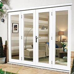 French door with full side panels