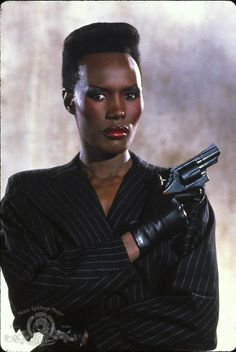 Still of Grace Jones in A View to a Kill (1985)
