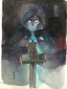 Pretty cool art as far as Geek themes go.  Dr. Doom - Alex Maleev