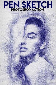 GraphicRiver Pen Sketch Photoshop Action