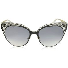 Jimmy Choo Designer Sunglasses ESTELLE/S ENYLF Black Metal Lace Cat... (€360) ❤ liked on Polyvore featuring accessories, eyewear, sunglasses, glasses, occhiali, cat eye glasses, metal glasses, metal sunglasses, jimmy choo sunglasses and metal cat eye sunglasses