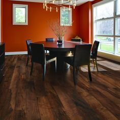 Shop Pergo Max 6.14-in W x 3.93-ft L Mountain Ridge Walnut Smooth Laminate Wood Planks at Lowes.com