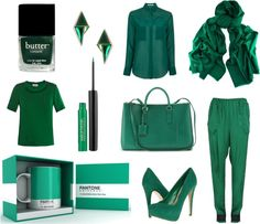 """""""Green with envy"""" by atodstyle on Polyvore"""