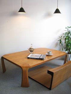 【アンティーク 古道具 JIKOH】天童木工 名作!乾三郎デザイン 座卓プライウッド ローテーブル【楽天市場】和室の座卓もこだわりたい人にはこれです!