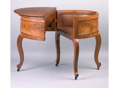 """This """"Aaron Burr"""" combination of small table, desk and chair desk looks like one of those exquisite transformable desks of the late 18th century. But it is in fact a mass produced item patented in 1854 and thus worthy of the tag """"patent desk"""" like its huge cousins the Moore insurance desk and the Wooton desk."""