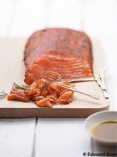 Gravad lax à l'orange et à la vergeoise, sauce wasabi-soja - Prendre une sauce soja à fermentation naturelle sans gluten (tamari...)