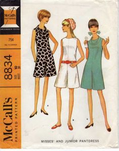 1967 McCalls 8834 Vintage Sewing Pattern Misses Pant by cositasusa,