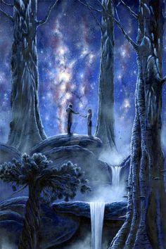 Melian and Thingol, med JPEG by KipRasmussen on DeviantArt