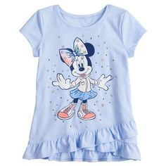 Disney/Jumping Beans Disney's Minnie Mouse Toddler Girl Dot Tee by Jumping Beans® Girls Tees, Girls 4, Summer Girls, Toddler Girl Outfits, Kids Outfits, Toddler Girls, Disney Tank Tops, Girls Blouse, Design Girl