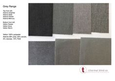 GREYS range Thermal Blinds, Roman Blinds, Product Launch, Range, Fabric, Tejido, Cookers, Tela, Ranges