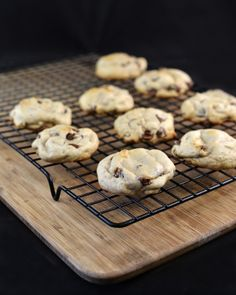 Applesauce chocolate chip cookies! No butter, only 1/4 cup oil