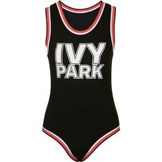 Check Out Every Piece In Beyoncé's Activewear Line, Ivy Park ❤ liked on Polyvore featuring bodysuit, ivy park, tops, bathing suits and bikini