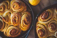 lemon curd rolls with lemon glaze
