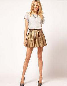 Asos metallic skirt I love