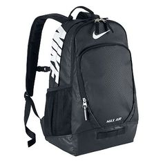 Nike Team Max Air Large BackPack Store everything you have and than some. The Nike Team Max Air Large backpack was designed to carry it all. Rucksack Bag, Laptop Backpack, Black Backpack, Backpack Bags, Backpack Store, Duffle Bags, Laptop Bags, Nike Bags, Shoulder Strap Bag