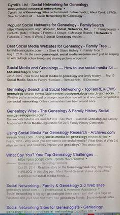 Dawning Genealogy: Genealogy Do-Over Week 11 #genealogy