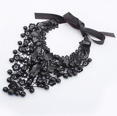 Popular Lace Black Resin Necklaces Good Quality  Hot BL0214 Like and Share if you want thisVisit our store --->  http://www.jewelrydue.com/product/min-order-15-free-shipping-2013-newest-popular-lace-black-resin-necklaces-good-quality-wholesale-hot-bl0214/ #shop #beauty #Woman's fashion #Products #homemade