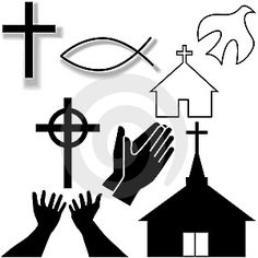 religious clip art free | Church and Other Christian Symbol Icons Set Vector. (eps - 7625368 ...