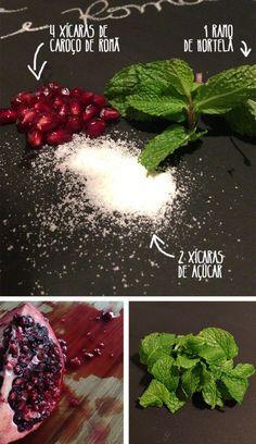 como preparar geleia de romã