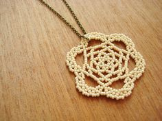 Beaded Lace Medallion - Very pretty