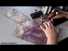 Paithani saree blouse back neck design cutting and stitching back neck. saree blouse back neck design. Blouse Back Neck Designs, Patch Work Blouse Designs, Fancy Blouse Designs, Bridal Blouse Designs, Blouse Neck Designs, Kerala Saree Blouse Designs, Cotton Saree Blouse Designs, African Print Dress Designs, Designer Blouse Patterns