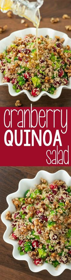 We're in love with this healthy gluten-free Cranberry Quinoa Salad! (Christmas Candy Healthy)