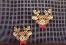 Rudolph the Red Nosed Reindeer--with a screw/stud style back, it lets you be festive without wearing a massive earring! Made to order with Delica Seed Beads--great for the holiday season