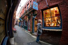 Fan Tan Alley window shopping.
