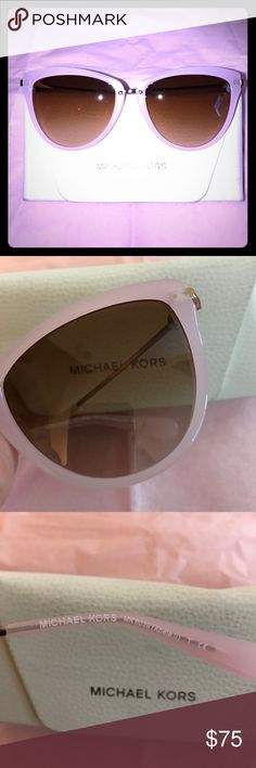 Michael Kors Abela II Sunglasses Michael Kors Abela II rose gold & pink frames are an oversized cateye style frame with a narrow metal bridge, creating a modern, dramatic look with 56mm lenses. These Michael Kors sunglasses are beautifully presented in an authentic white leather case, keeping your shades pristine day in, day out. Never worn!!! Michael Kors Accessories Sunglasses