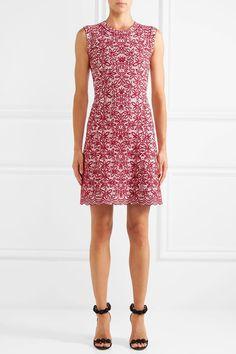 ALAÏA Wool-blend jacquard-knit mini dress