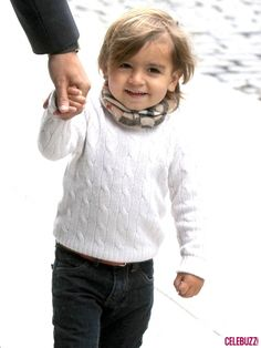 Mason Disick looks very stylish with a Burberry scarf and a cable knit sweater in NYC on April 23, 2012.