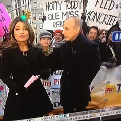 Is that a Feed Moncrief sign we see in the background of the Today show? Hotty Toddy!