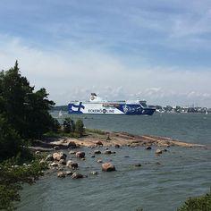 M/s Finlandia eilen pihlajasaaresta kuvattuna⛴⚓️ #eckeröline #msfinlandia #kesä