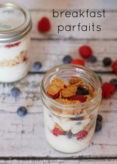 Make Ahead Yogurt Parfaits - I make these for both breakfast and kids lunches. So good and healthy!