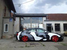 Camo Audi A4 on Fifteen52 Tarmac Wheels