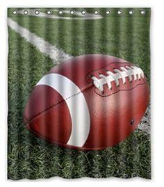 Custom American Football Waterproof Polyester Fabric Shower Curtain Bathroom Home Decro Size 150x180cm Freed Shipping 24