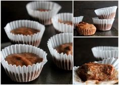 """Banana Almond Butter Cups + Whole 30 Week 3 - Food, Pleasure, and Health These probably go under the """"No paleofied deserts"""" rule. 2 week diet whole 30 Whole 30 Dessert, Whole 30 Snacks, Whole 30 Diet, Paleo Whole 30, Whole 30 Recipes, Paleo Dessert, Healthy Desserts, Dessert Recipes, Healthy Food"""