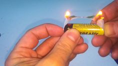 Make Fire Using Gum And A Battery