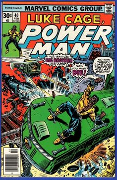 Marvel Comics Superheroes, Marvel Comic Books, Comic Book Heroes, Marvel Characters, Marvel Movies, Comic Book List, Comic Book Covers, Power Man Marvel, Heroes For Hire