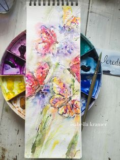 veredit - art©: Butterflies rush hour - #WorldwatercolorMonth 15/3...
