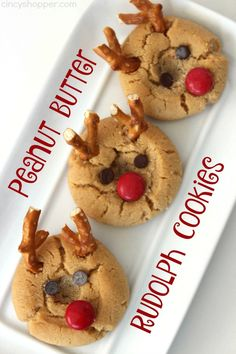 If you are needing a fun Christmas cookie, these Peanut Butter Rudolph Cookies will be perfect. We transform a super simple thumbprint peanut butter cookie into a Rudolph the Red Nosed Reindeer. So fun!