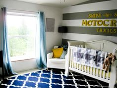 Boy's nursery.  Cute and no quickly outgrown baby stuff here.