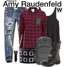 Inspired by Rita Volk as Amy Raudenfeld on Faking It. Faking It Mtv, Tomboy Fashion, Tomboy Style, School Looks, Fashion Beauty, Womens Fashion, College Outfits, Korean Fashion, Amy