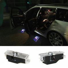 2 pcsX Fantôme Ombre Lumière Bienvenue Laser Projecteur Lumières LED Voiture Logo Pour BMW M Performance E60 M5 E90 F10 X5 X3 X6 X1 GT E85 M3